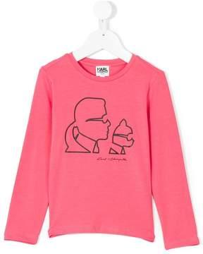 Karl Lagerfeld printed long-sleeved sweatshirt