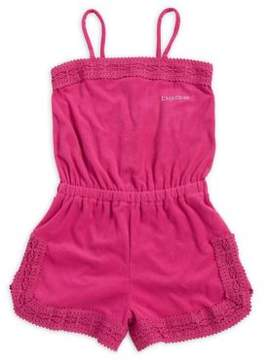 Bebe Girl's Lace-Paneled Romper