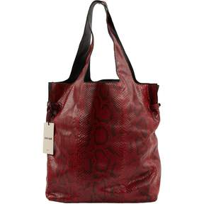 Roberto Cavalli Red Python Handbag