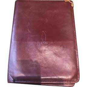 Cartier Vintage Burgundy Leather Wallets