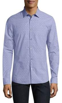 Michael Kors Dot-Print Cotton Shirt