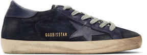 Golden Goose Deluxe Brand Navy Suede Superstar Sneakers