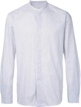 Lemaire striped mandarin neck shirt
