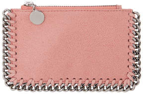 Stella McCartney Pink Falabella Zip Card Holder