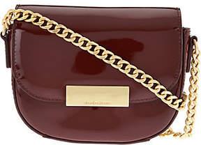 Isaac Mizrahi Live! Patent Leather Chain StrapSmall Handbag
