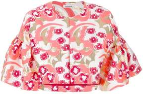 P.A.R.O.S.H. floral print cropped jacket