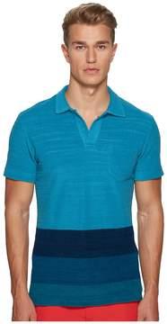 Orlebar Brown Terry Block Stripe Polo Men's Clothing