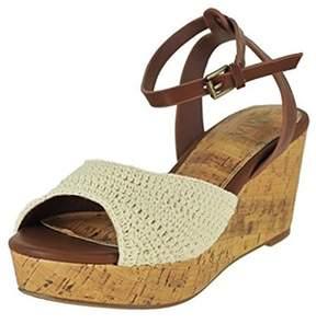Mia Womens Monica Fabric Open Toe Casual Ankle Strap Sandals.