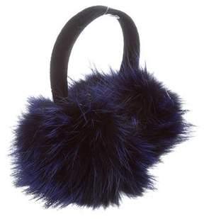 Oscar de la Renta Fox Fur Earmuffs