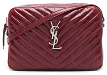 Saint Laurent Medium Vintage Monogramme Lou Satchel in Red. - PALISSANDRE - STYLE