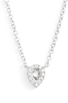 Ef Collection Women's Diamond & Topaz Teardrop Pendant Necklace