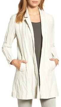 Eileen Fisher Women's Notch Collar Long Jacket