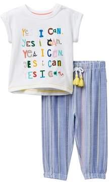 ED Ellen Degeneres Top & Pant Set (Baby Girls)