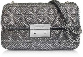 Michael Kors Silver Quilted Leather Sloan Large Chain Shoulder Bag - ONE COLOR - STYLE