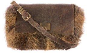 Michael Kors Fox Fur Darrington Bag - BROWN - STYLE