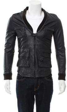 Robert Geller Beuys Leather Field Jacket