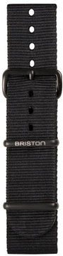 Briston 20mm Nylon NATO Watch Strap w/ Matte Buckle, Black