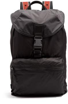 Givenchy Leather-trimmed nylon backpack