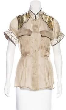 Aquilano Rimondi Aquilano.Rimondi Silk-Blend Short Sleeve Top