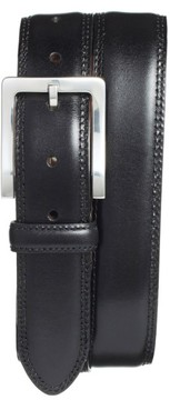 Bosca Men's Double Stitch Leather Belt