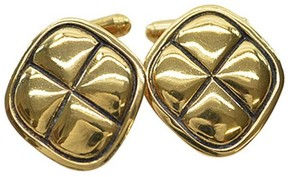 Chanel Gold Tone Cuff Links