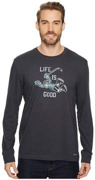 Life is Good Hockey Score Long Sleeve Crusher Tee Men's Long Sleeve Pullover
