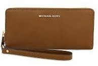 Michael Kors Nwt Jet Set Leather Travel Continental Wallet In Luggage (Sale!!) - LUGGAGE - STYLE