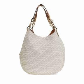 Michael Kors Fulton Large Logo Shoulder Bag - Vanilla - WHITES - STYLE