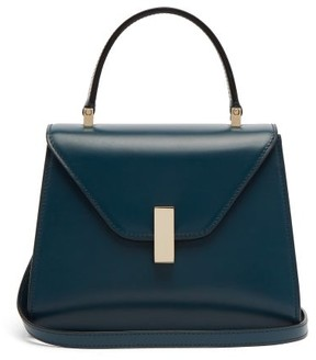 Valextra Iside Mini Leather Bag - Womens - Blue
