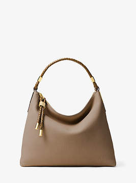 Michael Kors Skorpios Large Leather Shoulder Bag - NATURAL - STYLE