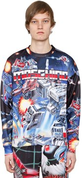 Moschino Transformer Print Techno Sweatshirt