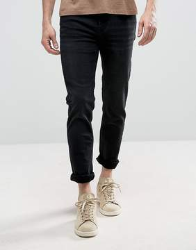 Loyalty And Faith Pillar Slim Stretch Jeans in Washed Black