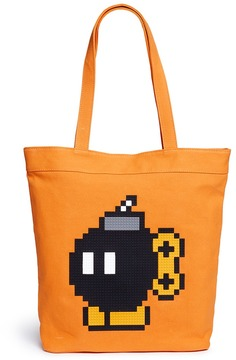 Mostly Heard Rarely Seen 'Da Bomb' rubber appliqué tote bag