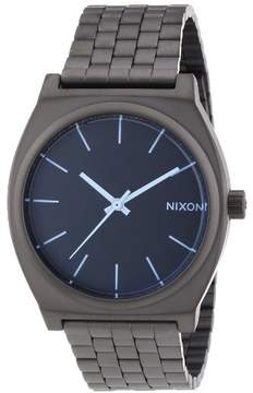 Nixon A045-1427 The Time Teller Gunmetal Blue Crystal Watch