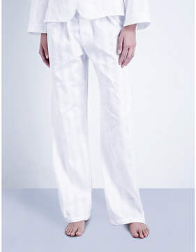 Bodas Shadow Stripe cotton pyjama bottoms