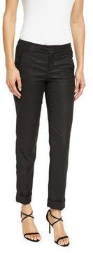 ATM Anthony Thomas Melillo Stretch Sparkle Classic Slim Pants, Black