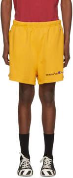 Off-White Yellow Champion Reverse Weave Edition Lounge Shorts