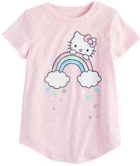 Hello Kitty Girls 4-10 Jumping Beans Rainbow Tee