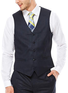 Jf J.Ferrar JF Navy Varigated Suit Vest - Slim Fit