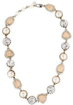 Isaac Mizrahi Pearl and Crystal Necklace