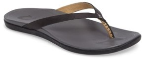OluKai Women's 'Ho Opio' Leather Flip Flop
