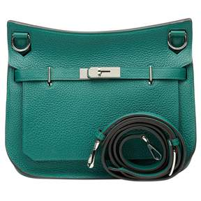 Hermes Jypsiere leather tote - GREEN - STYLE