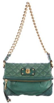 Marc Jacobs Quilted Leather Fold-Over Bag - GREEN - STYLE