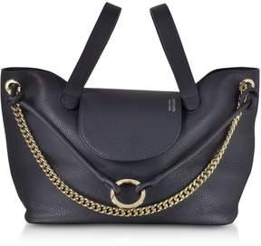 Meli-Melo Regal Blue Linked Thela Medium Tote Bag