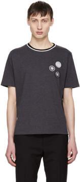 Saint Laurent Grey Patches T-Shirt