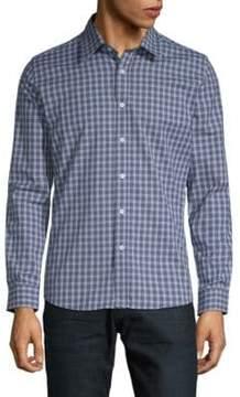 Hyden Yoo Slim-Fit Checkered Cotton Button-Down Shirt