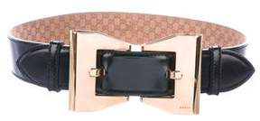 Gucci Leather Bow Belt