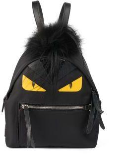 Fendi Monster Nylon, Leather & Mini Fur Backpack
