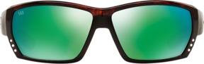 Costa del Mar Tuna Alley Polarized Tortoise Rectangle Sunglasses