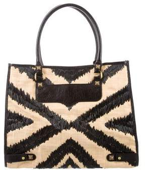 Rebecca Minkoff Straw Diamond Tote w/ Tags